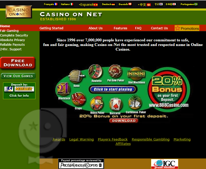 888 Italy Casino Review