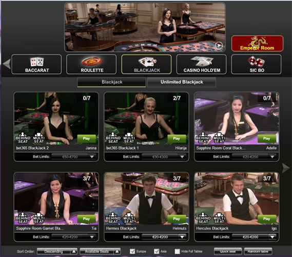 Play Live Blackjack Online at Casino.com India
