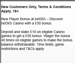 Bet365 Bonus T&C's