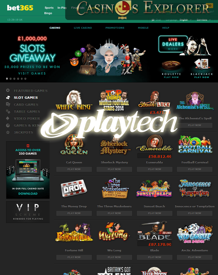 playtech casino full list