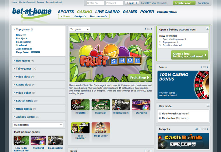 Www.Bet-At-Home.Com Casino