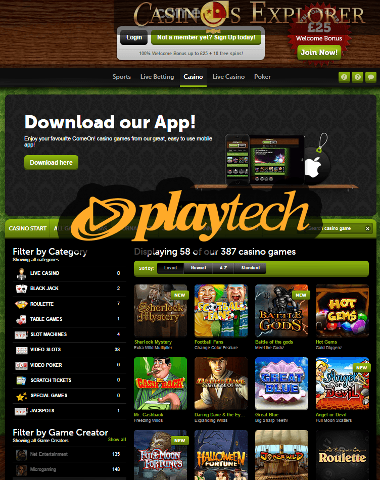 no deposit playtech casino bonus