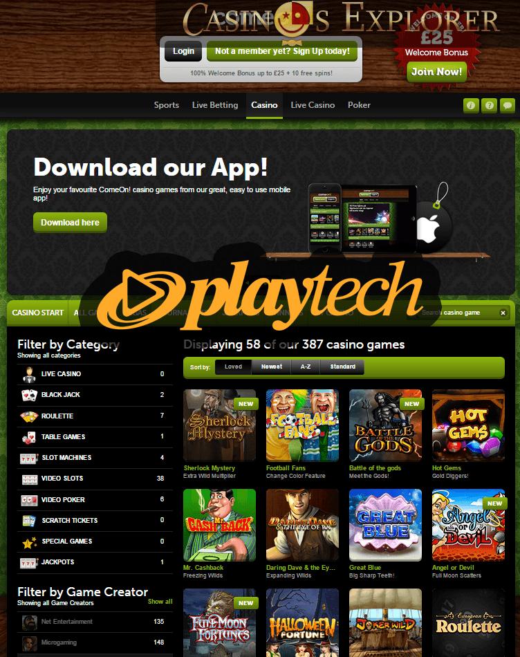 Playtech Casino Bonus Code