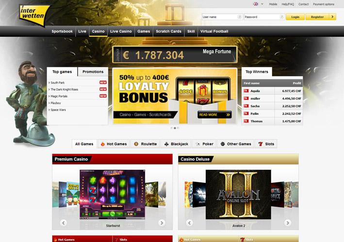 Interwetten bonus casino winning at poker slot machines