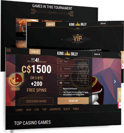 King Billy Deposit Bonuses | VIP Program | Tournaments