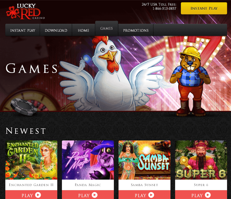 lucky red casino games