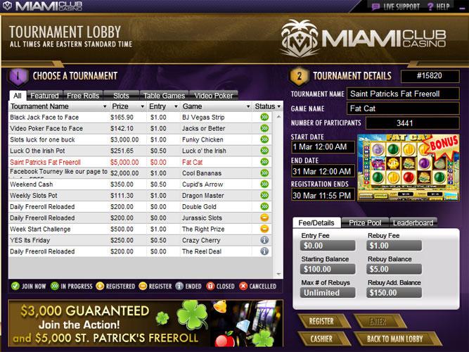miami club casino address