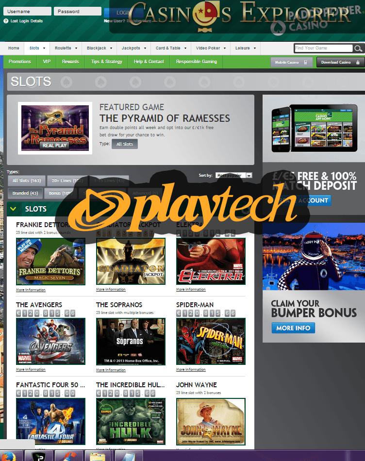 playtech instant play casino