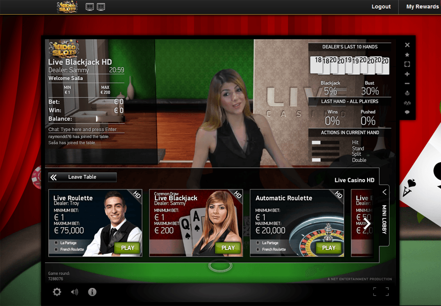 live online casino video slots