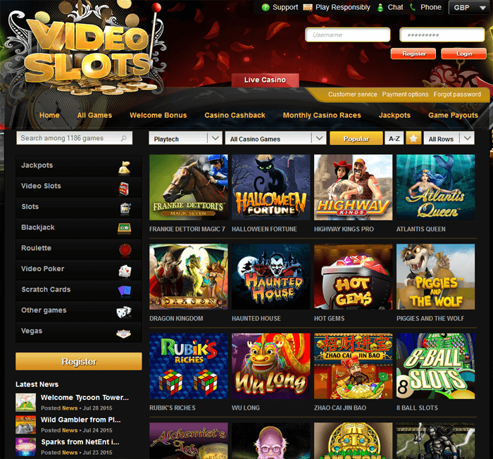 Best Online Slots by Playtech