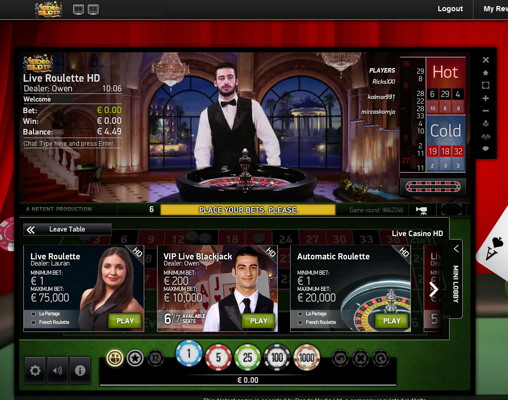 video slots online european roulette
